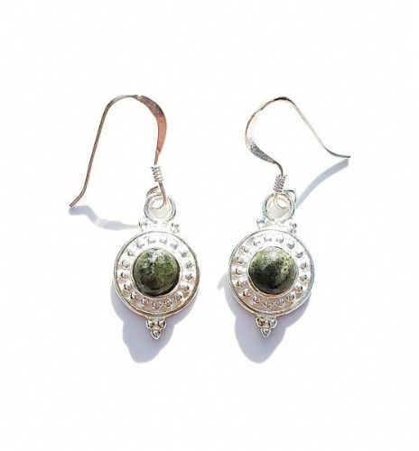 Round Connemara Marble Earrings